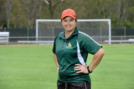 Former Australian goalkeeper Belinda Kitching is back coaching at Western Pride.