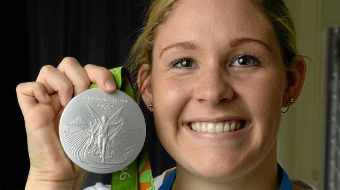 Swimmer Leah Neale was thrilled to be back in Ipswich with family and friends after winning a silver medal at the Rio Olympics.