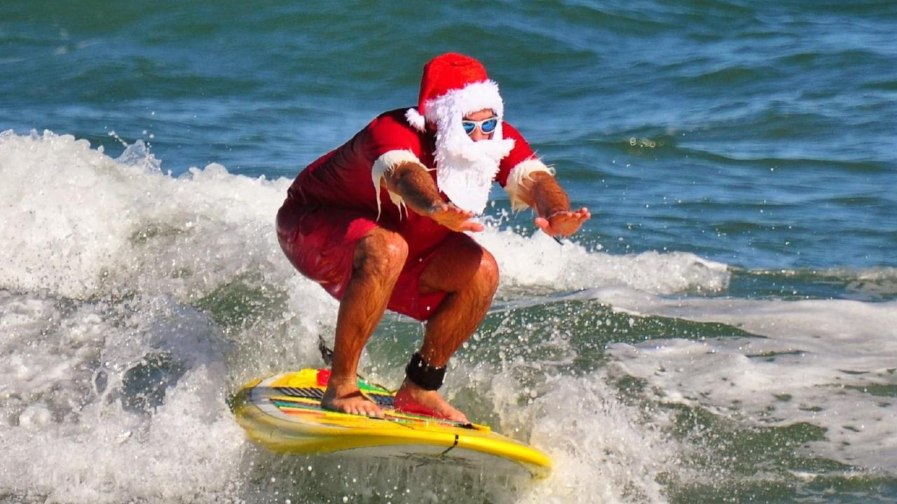 A warm Christmas should see plenty of surfing Santas.