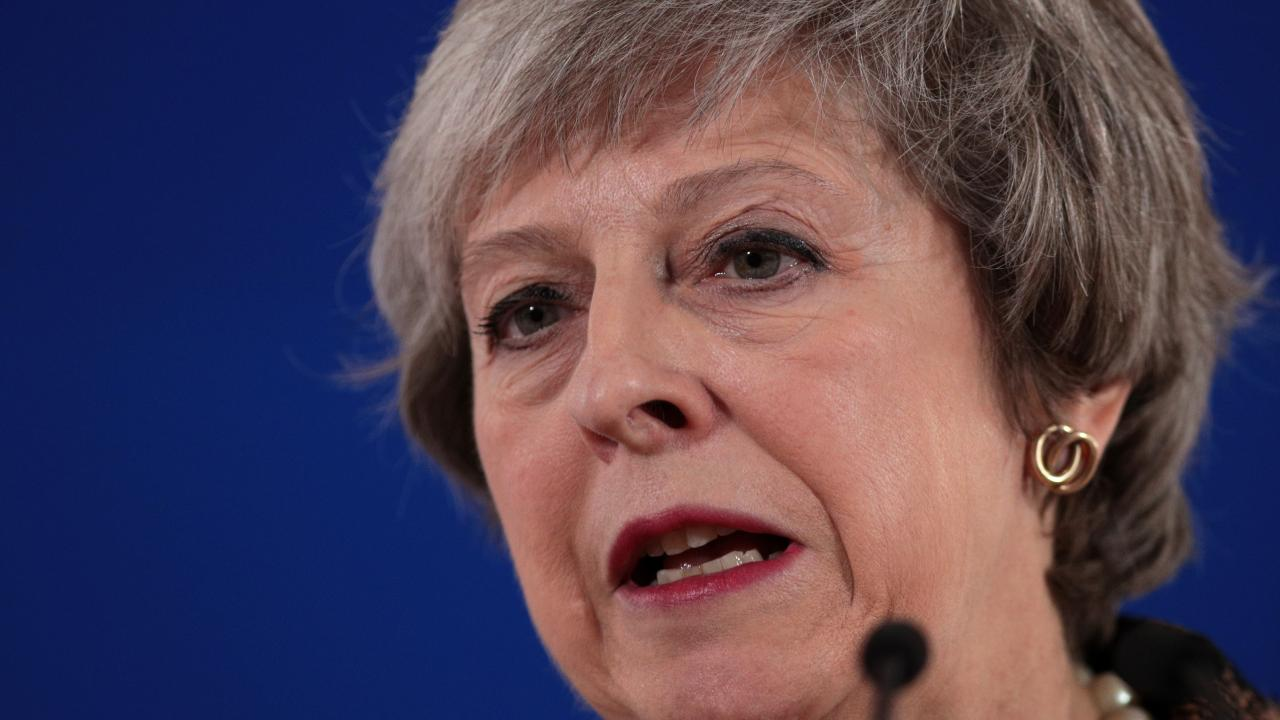 British Prime Minister Theresa May holds a press conference at the European Council during the two day EU summit on December 14, 2018. Picture: Getty Images