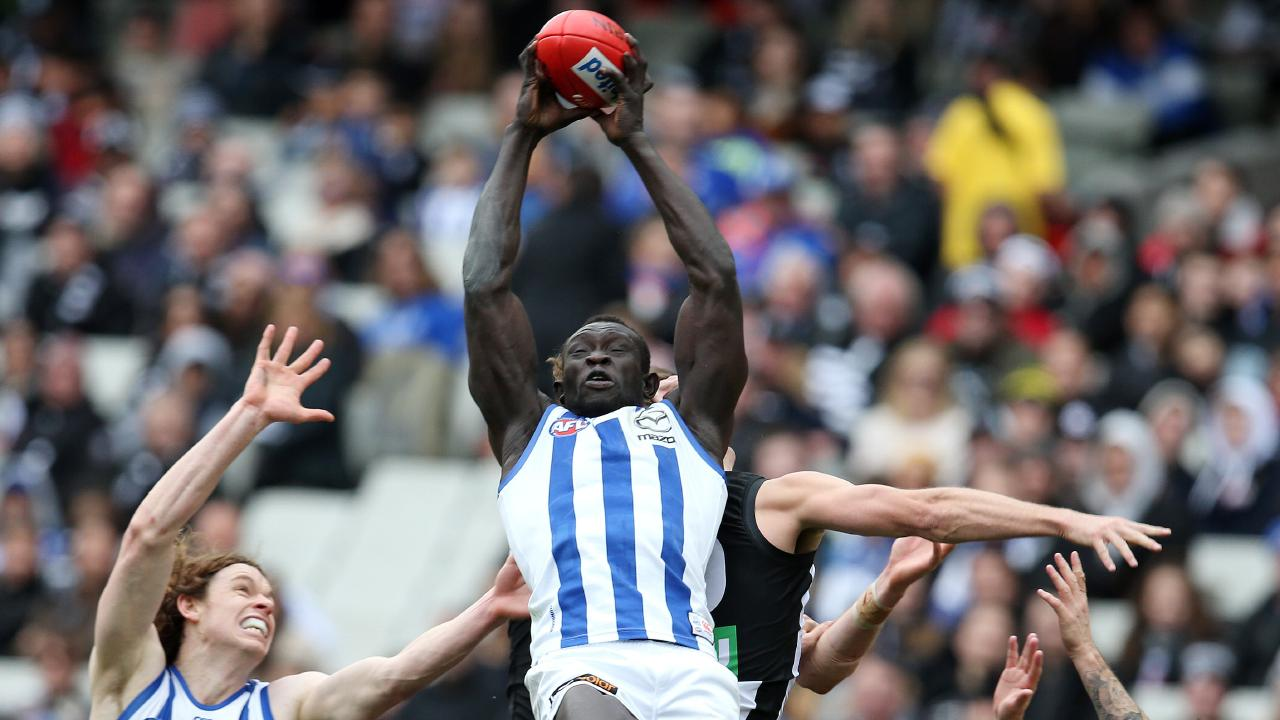 Majak Daw encountered racism early in his career and had countless issues with his body, which kept him out for long periods. Picture: Michael Klein
