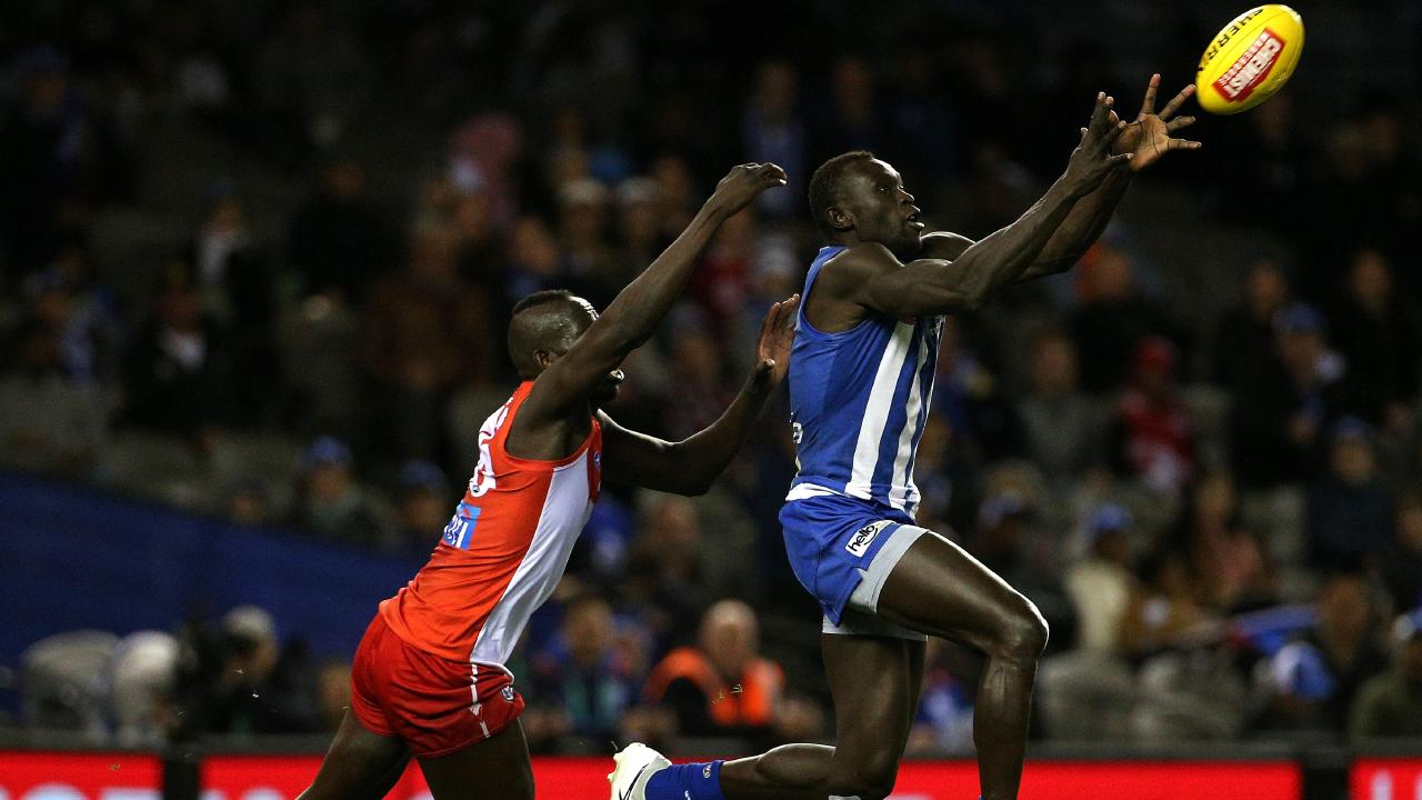 Majak Daw has said he hoped one day be a role model to the Sudanese community. Picture: AAP