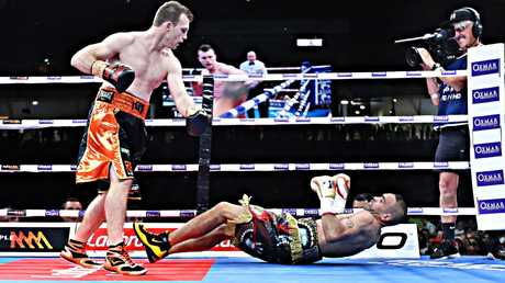 Mundine was knocked into retirement by Jeff Horn. Picture: Annette Dew