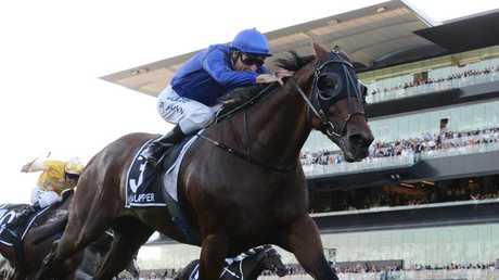 Doncaster Mile winner Happy Clapper will be set for the All-Star Mile. Picture: AAP