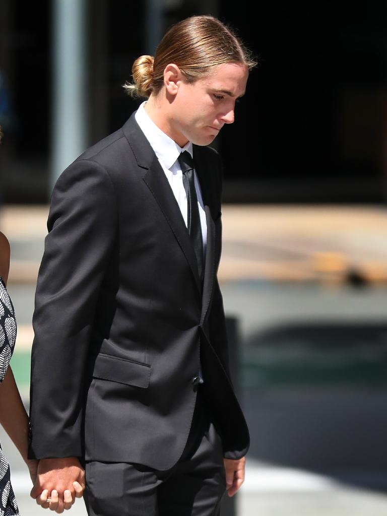 Dylan Luke Stubberfield arriving at the Brisbane District Court. Picture: Liam Kidston