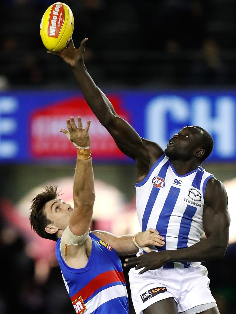 Majak Daw in action in 2017. Photo: Getty Images