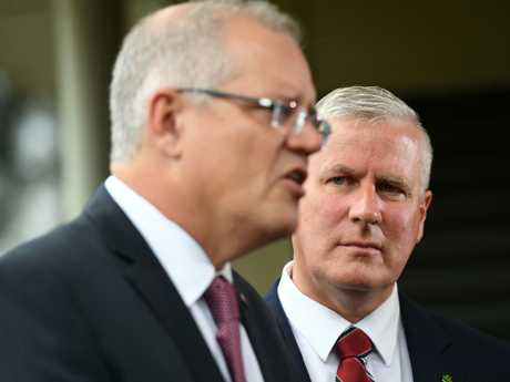 "Deputy Prime Minister Michael McCormack knew for almost six weeks about Mr Broad's meeting with a ""sugar baby"" in Hong Kong but did not inform the Prime Minister. Picture: AAP"