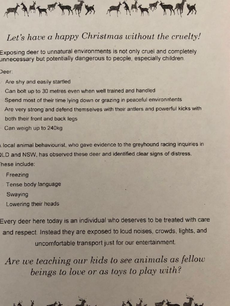 deer protest pamphlet