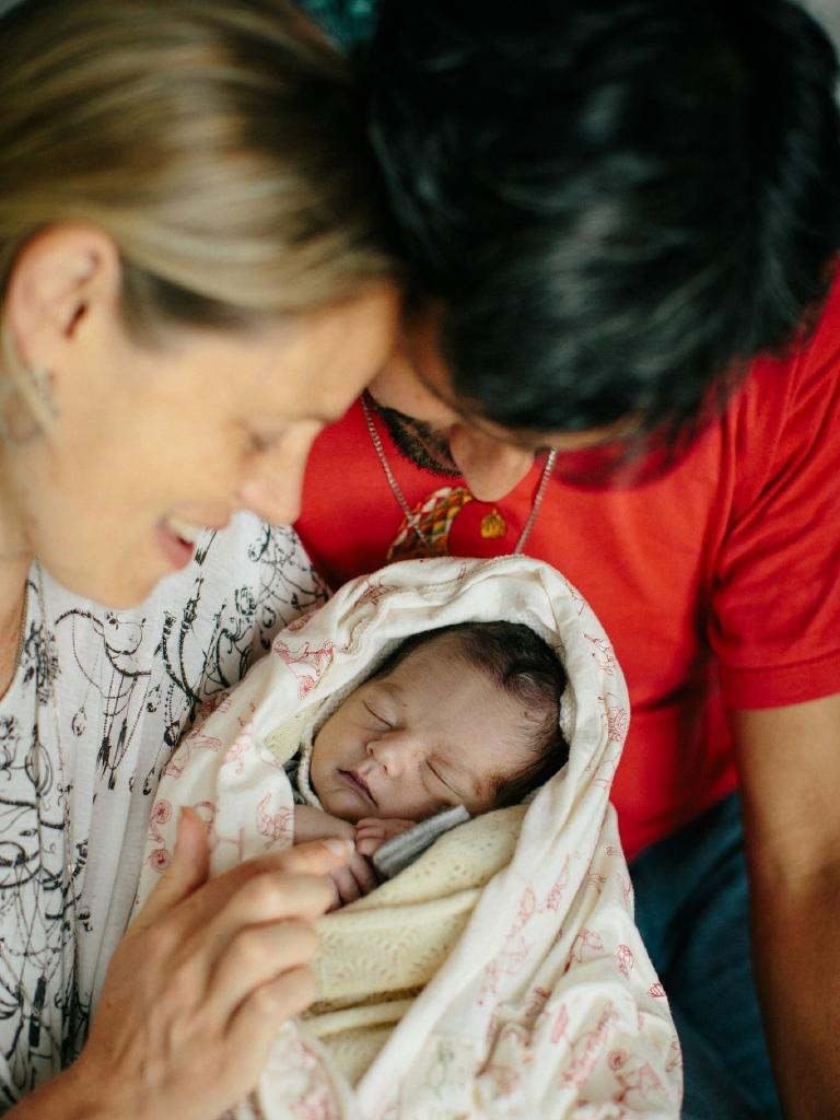 Emma Gilkison and partner Roy Costilla with baby Jesús. Pictures: Billie Brook