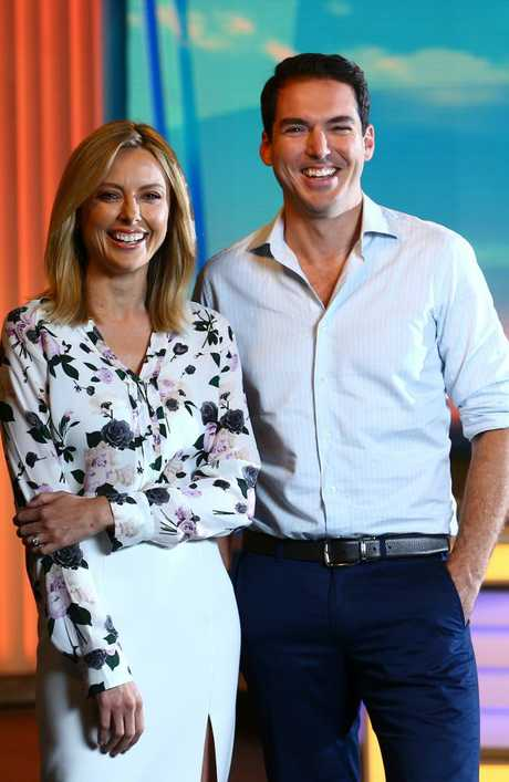 Peter Stefanovic and Allison Langdon. Picture: Britta Campion / The Australian