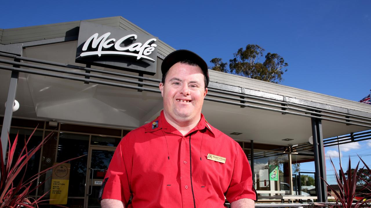 Russel O'Grady is described as a friendly character and much loved member of staff at Northmead McDonald's.