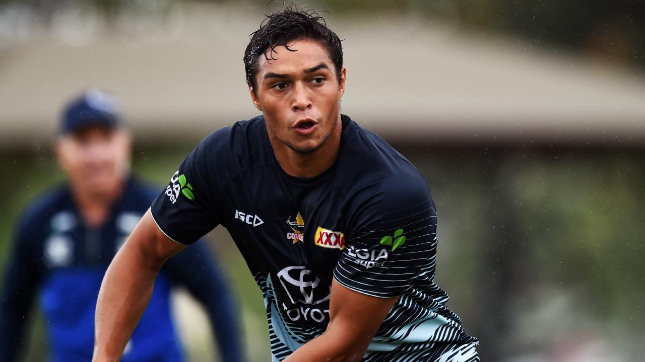 North Queensland Cowboys training from the Townsville Sports Reserve. Te Maire Martin. Picture: Zak Simmonds