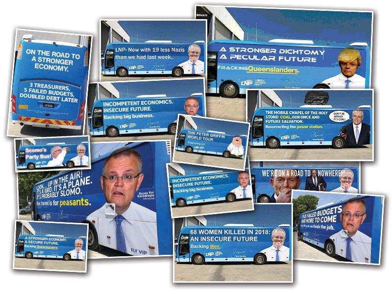 Prime Minister Scott Morrison's big blue bus rapidly turned into the Meme Machine.