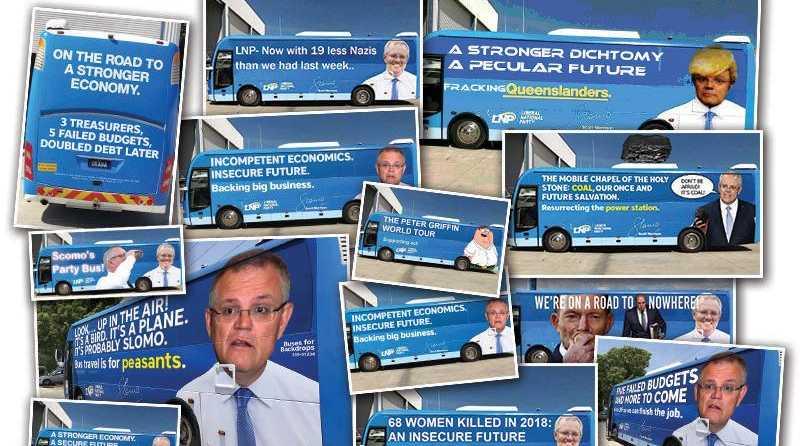 Prime Minister Scott Morrison's big blue bus rapidly turned into the Meme Machine.