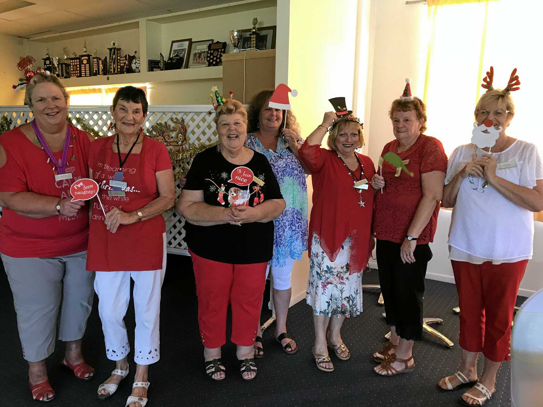 Glasshouse Country VIEW club ladies having fun at their recent Christmas party.