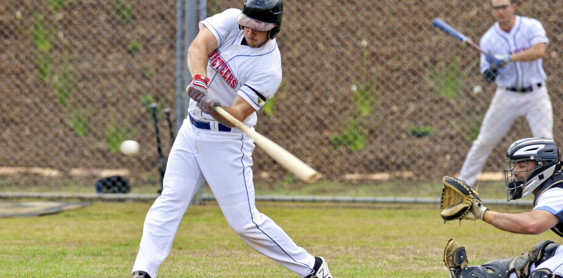 Ipswich Musketeers and Brisbane Bandits batter Andrew Campbell.