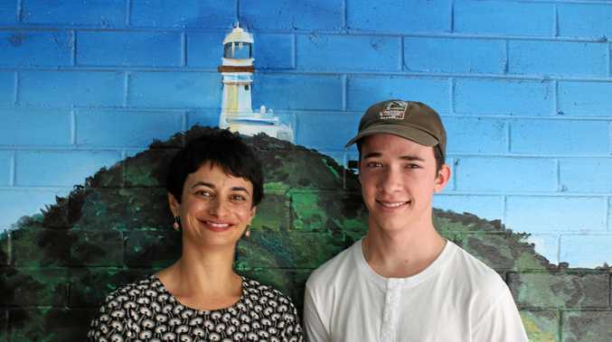ON TOP OF THE WORLD: Byron Bay High School principal Janine Marcus with Dux Keaton Buhagiar.