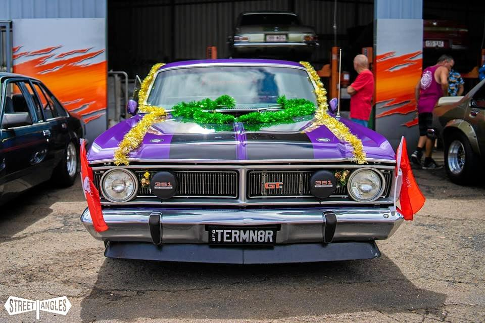 A convoy of decorated classic cars delivered toys to children spending the Christmas season at the Sunshine Coast University Hospital and in foster care, via Intergrated Family and Youth Services.