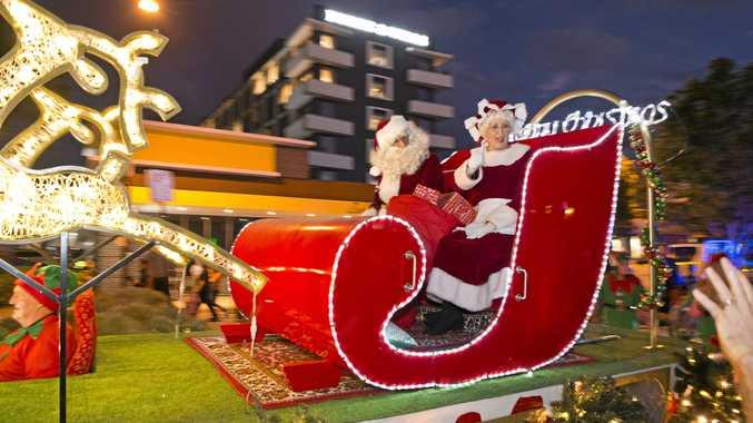 Santa checks his wishlist from Toowoomba's leaders