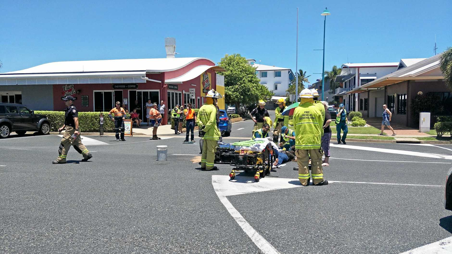 Crash at Mackay Harbour.