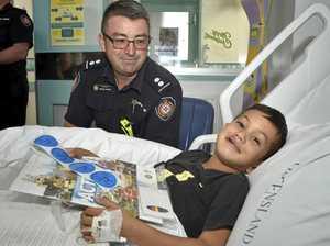 QFES visit Toowoomba Hospital