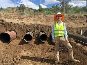 Major sewage pipeline built in Somerset region