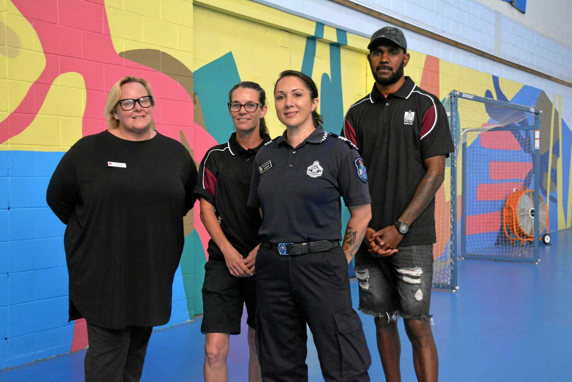 RESTART: Julie Ewart, Julie Benson, Sgt Rene Bond and Alex Speedy will be working with the students in the Restart program at the South Burnett PCYC next year.