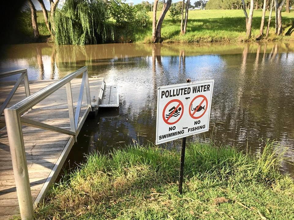 STEER CLEAR: A public health warning has been issued after a wastewater spill in the Condamine River.