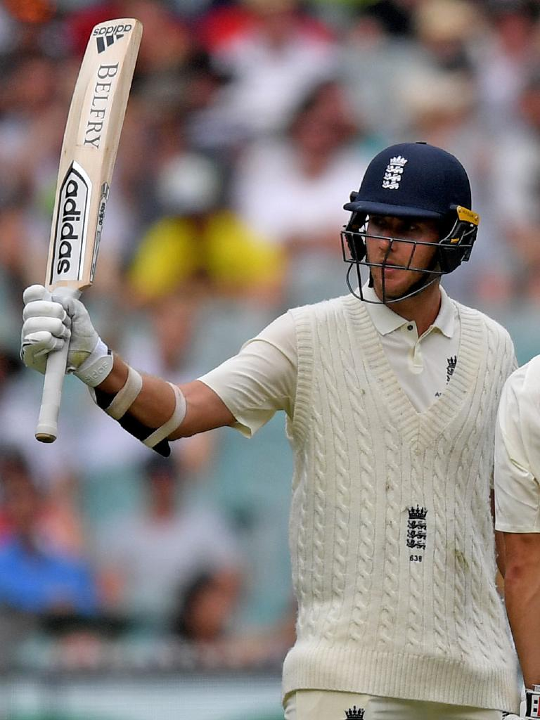 Even Stuart Broad reached a half century last year. Picture: AAP