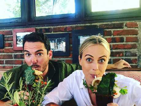 Peter Stefanovic and Sylvia Jeffreys after Karl and Jasmine's wedding. Picture: Tim Blackwell, Instagram