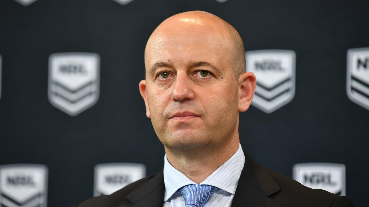 NRL CEO Todd Greenberg addresses the media to hand down sanctions to Sharks and Tigers.