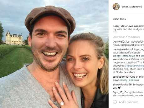 Pictured Peter Stefanovic with Sylvia Jeffreys from Peter's Instagram Page.