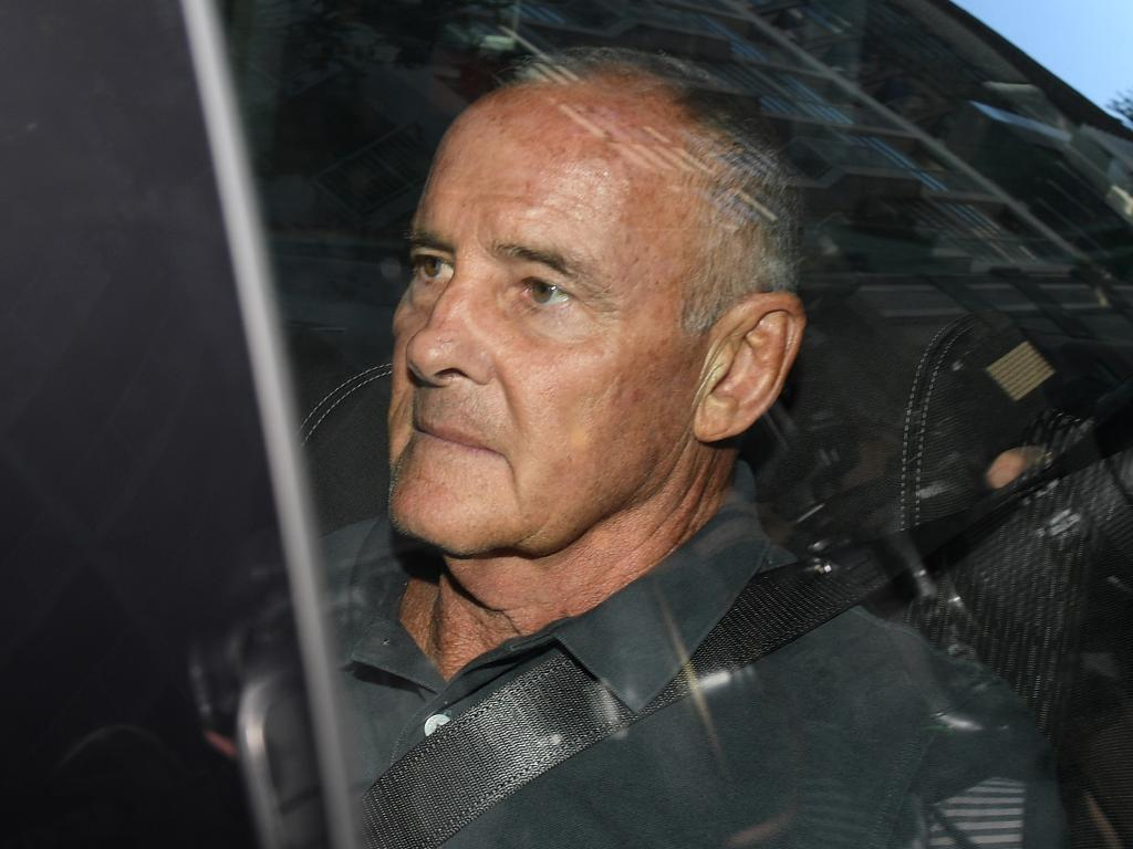 Chris Dawson was extradited from Queensland and charged in Sydney but will return to the Sunshine Coast on bail to await trial. Picture: Dan Himbrechts