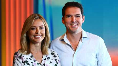 Allison Langdon and Peter Stefanovic were announced as the Weekend Today co-hosts earlier this year. Picture: Britta Campion/The Australian