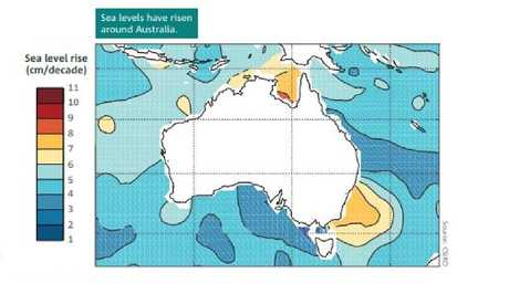 Sea levels around Australia are rising on par with international comparisons, although in some areas increases are greater.