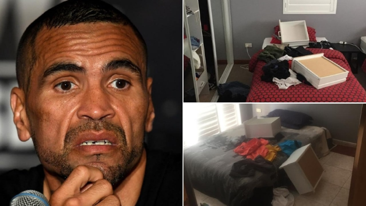 Thieves stole $5000 in cash and goods from Mundine's South Hurstville home.