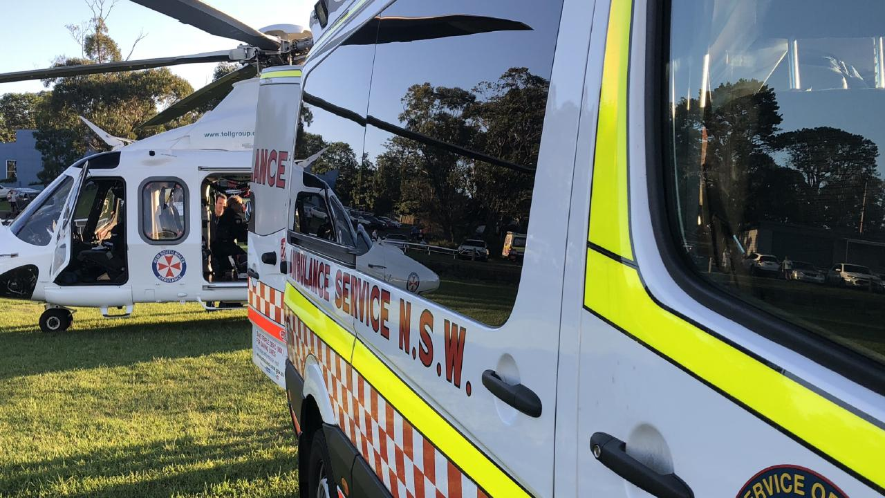 Paramedics were called to the home in Gwandalan and the child was flown to hospital. Picture: NSW Ambulance