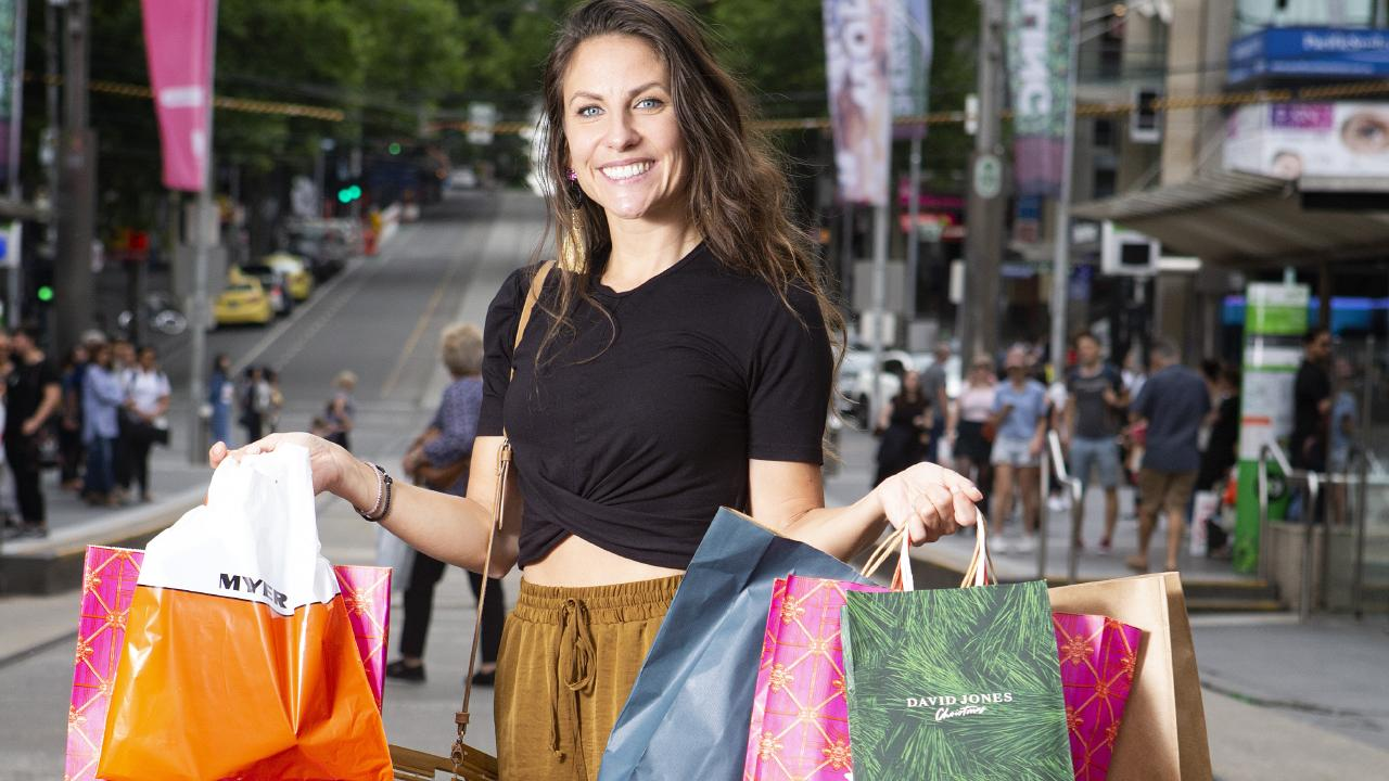 Anna Flemmert, 33 with her stash of Christmas shopping presents. PICTURE: SARAH MATRAY