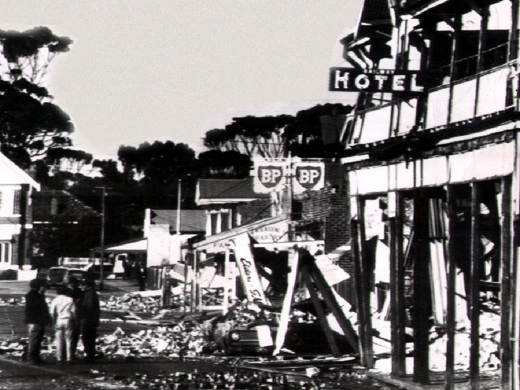 Meckering was reduced to rubble after the 1968 quake.
