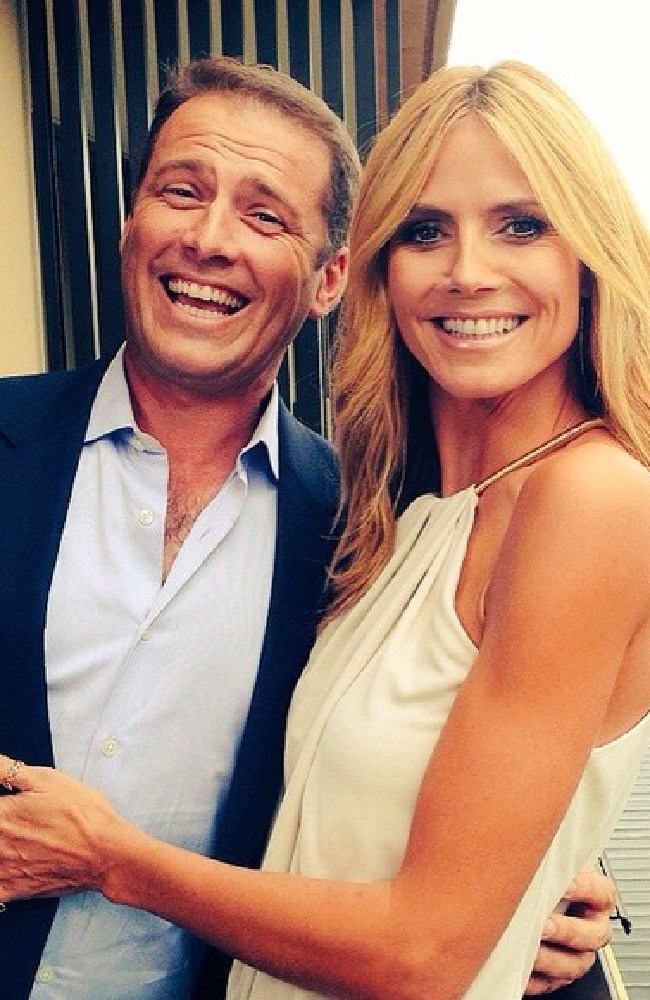 Karl Stefanovic and Heidi Klum (not a yodeller). Picture: Instagram selfiepix