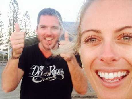 Sylvia Jeffreys and Nine News foreign correspondent Peter Stefanovic around the time they first started dating. Picture: Instagram