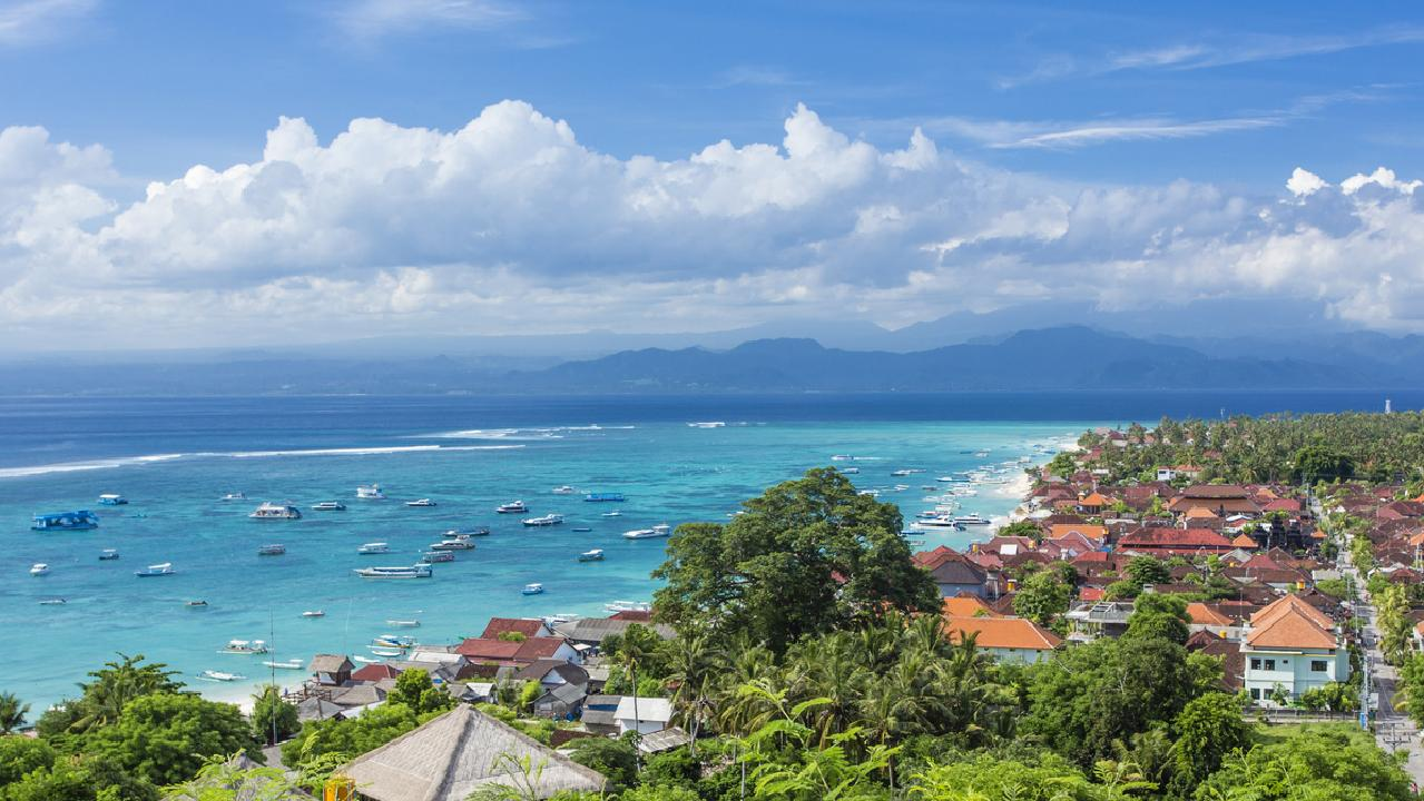 The main town of Nusa Lembongan Island has everything you need from a travel destination.