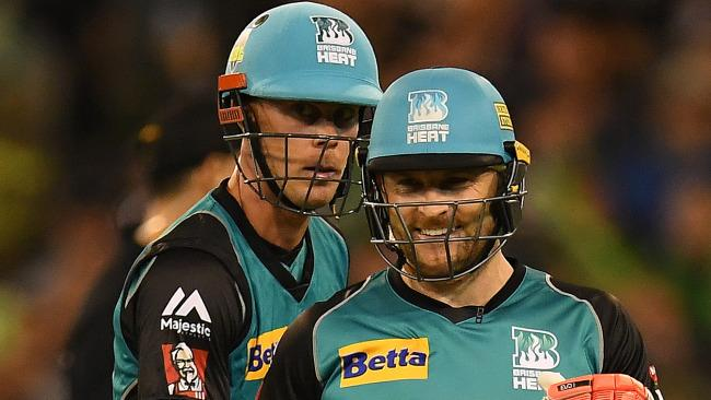 Chris Lynn (left) and Brendon McCullum are ready to explode in the BBL. (AAP Image/Julian Smith)