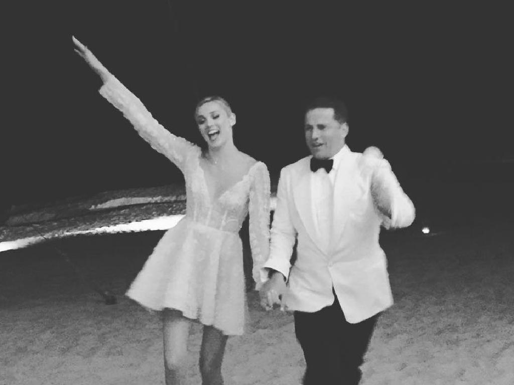 Karl Stefanovic and Jasmine Yarbrough wedding in Cabo posted by Amie Yin. Picture: Instagram