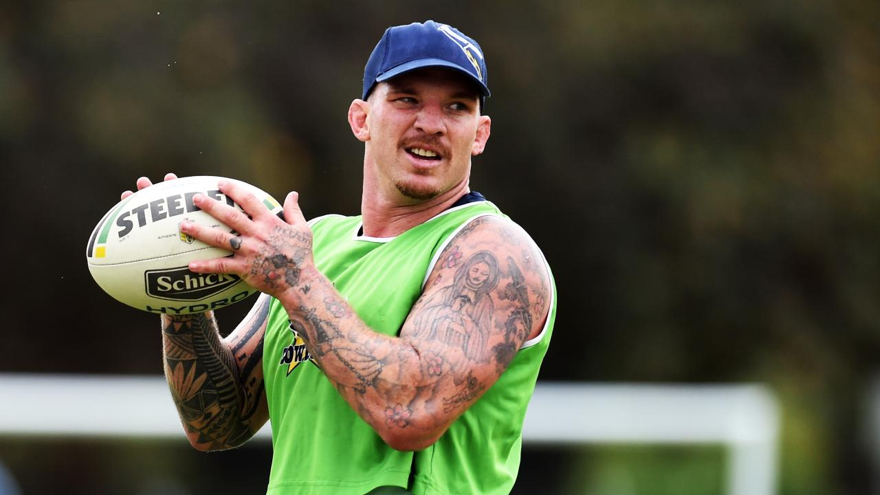 Josh McGuire training with the North Queensland Cowboys. Picture: Zak Simmonds