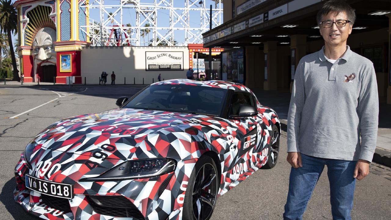 Toyota Supra chief engineer Tetsuya Tada is in Australia testing the new sports car.