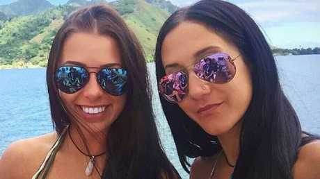 Cocaine babes Melina Roberge (left) and cohort, porn star Isabelle Lagace on the cruise. Picture: Facebook
