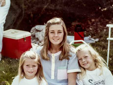 Joanne Curtis with a young Sherryn (left) and Shanelle Dawson.