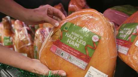 Woolworths' Christmas ham is down in price.