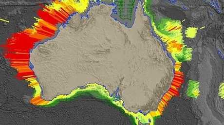 The data shows 500,000 possible earthquake and tsunami scenarios in Australia. Picture: BOM